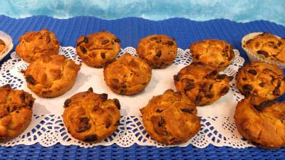 Cuisine des enfants : Plat de muffins aux baies de goji