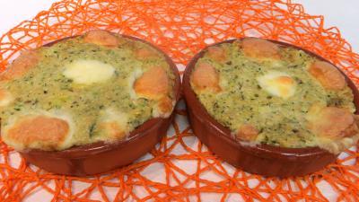 mozzarella : Cassolettes de courgette aux fromages
