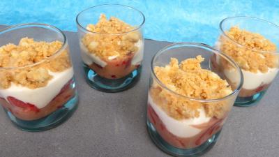 cointreau : Verrines de fraises aux petits suisses