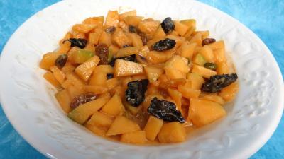 Recettes rapides : Saladier de salade de melon au caramel