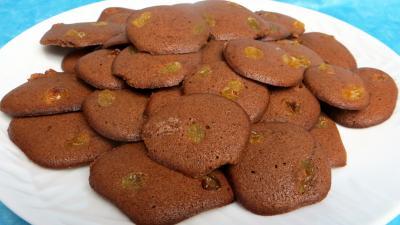 sucre glace : Assiette de palets au cacao
