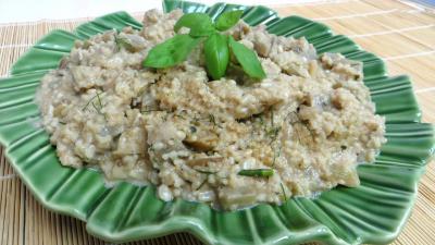 garniture : Plat d'aubergines au couscous