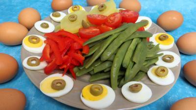 pique nique : Assiette de salade provençale