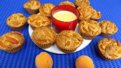Les grands classiques : Assiette de muffins aux abricots