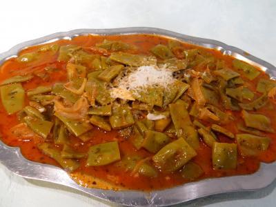 jus de tomate : Plat de haricots plats à la vénitienne