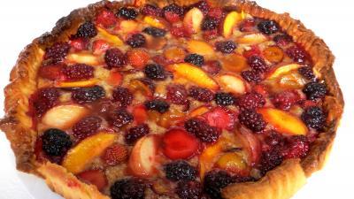 Recette Sablé amandin aux fruits d'été