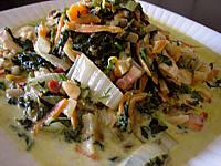 blanc de poulet aux fanes de carottes