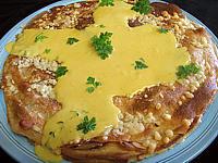 gâteau de crêpes au sarrasin et aux fromages