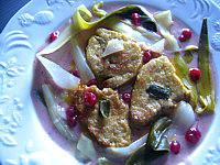 foie gras sauce aux airelles