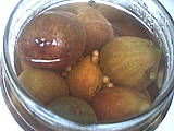 cardamome : Bocal de figues en condiments