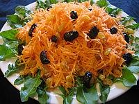 Recette Assiette de carottes en salade