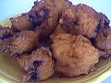 Image : Assiette de beignets d'aubergine