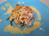 crumble aux haricots verts