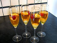 cocktail au champagne