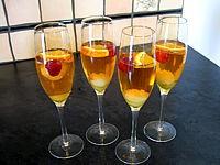 cocktail au champagne