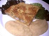 Recette Assiette de colin en omelette