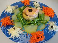 foie gras en salade chayotte