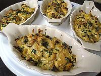 cassolettes de moules et polenta au boursin