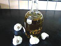 Recette huile à l'ail en bouteille