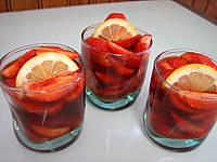 Image : recette Fraises au vin rosé