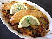 Image : Filets de rougets et ses légumes au brie