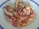Image : Assiette de cervelle de veau aux lardons