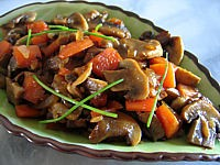Recette Ramequin de champignons au muscat