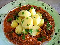 boeuf au curry et aux pommes de terre