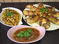 Assiette de cuisses de poulet à la provençale