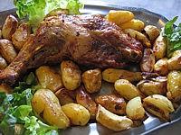 Image : Rôtir - Cuisse de dinde rôtie aux rattes