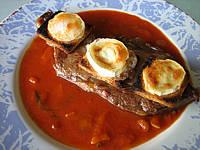 Image : Assiette de contre-filets au fromage de chèvre