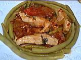 Image : Assiette d'émincé de dinde aux légumes