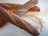 Image : recette Baguettes de pain en direct aux graines de pavot