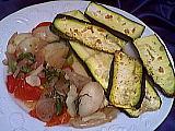 Recette Assiette de courgettes à l'ail des Carmélites