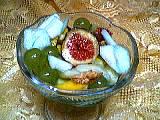 Image : Coupe de fruits au curaçao