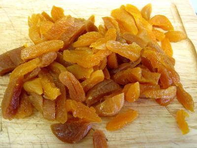 Abricots secs hachés