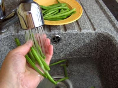 laver le haricot vert