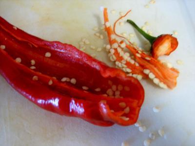 Préparer les piments