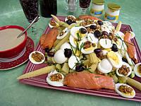 Recette Salade de pommes de terre et saumon en salade