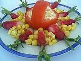 Image : Vins et entrées - Tomates à l'avocat et au thon