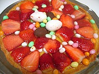 tarte de pâques aux fraises