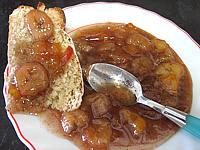vitpris : Soucoupe de marmelade de nectarines et bananes