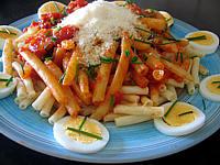Image : Macaronis - Macaronis aux oeufs