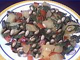 Image : Assiette de salade aux pignons