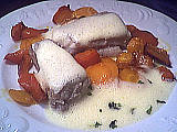 roussette sauce au vin blanc