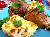 Cervelle d'agneau : Assiette de souris d'agneau et gratin parmentier aux carottes