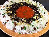 Lentilles et riz à la sauce tomate