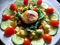 Image : recette Salade au rocamadour