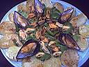 Salade d'épinards tièdes aux moules et son coulis de ciboulette - 12.2