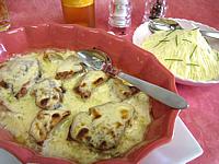 Recette Plat à gratin de thon vapeur gratiné au gorgonzola